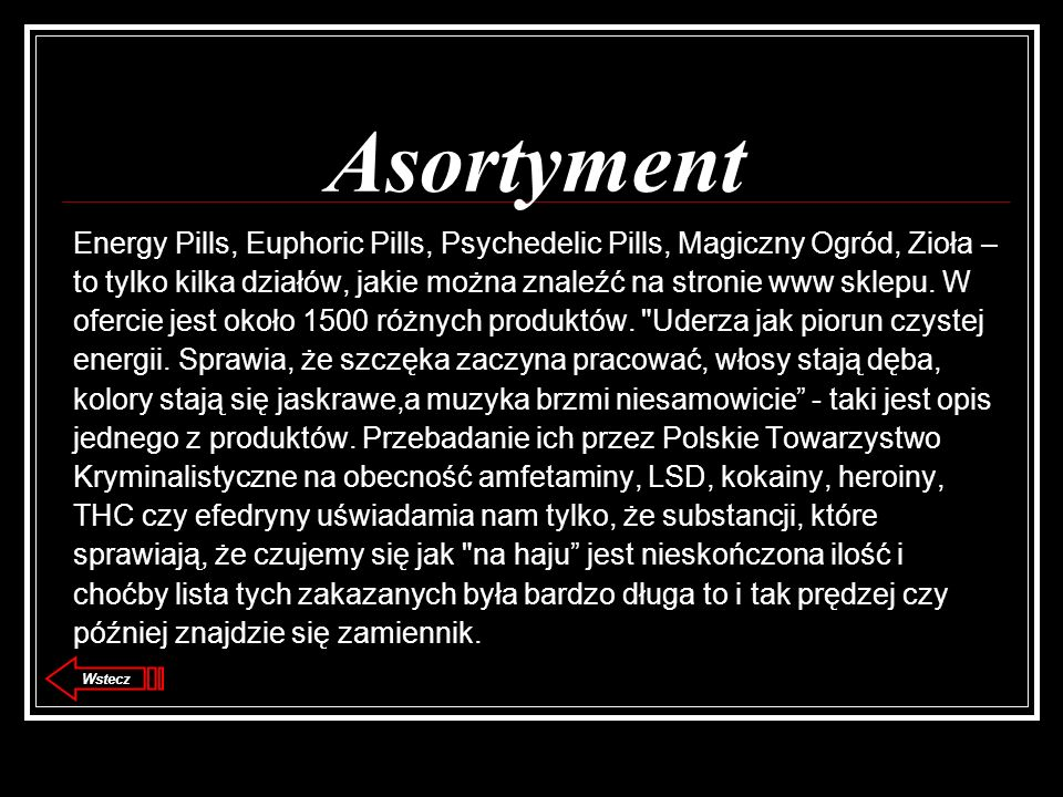 Asortyment Energy Pills, Euphoric Pills, Psychedelic Pills, Magiczny Ogród, Zioła –