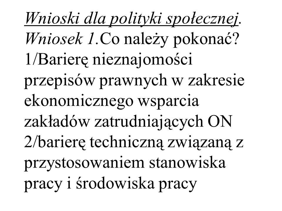 Wnioski dla polityki społecznej. Wniosek 1. Co należy pokonać