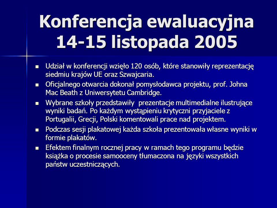Konferencja ewaluacyjna 14-15 listopada 2005