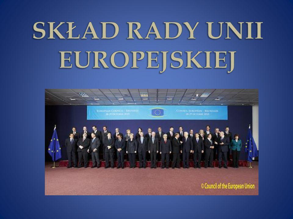SKŁAD RADY UNII EUROPEJSKIEJ