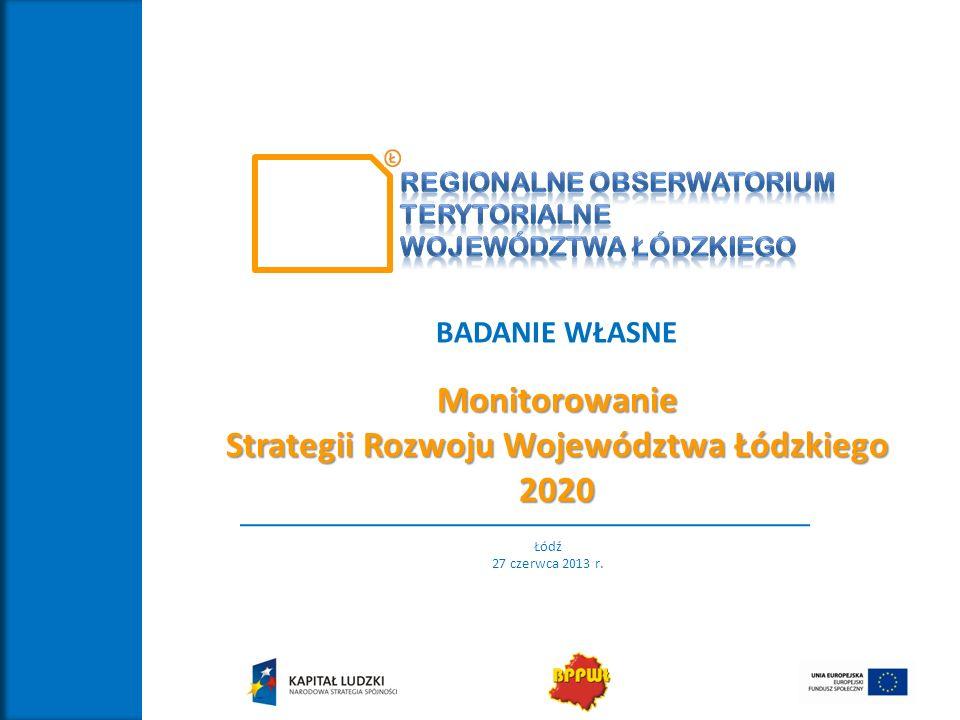 Strategii Rozwoju Województwa Łódzkiego 2020