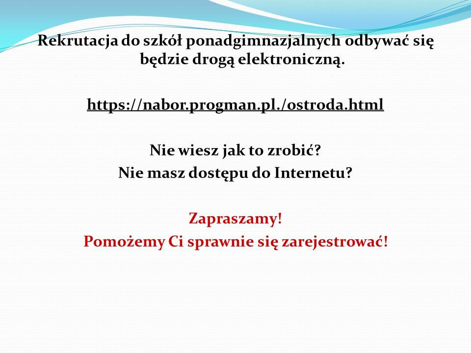 Nie masz dostępu do Internetu Pomożemy Ci sprawnie się zarejestrować!