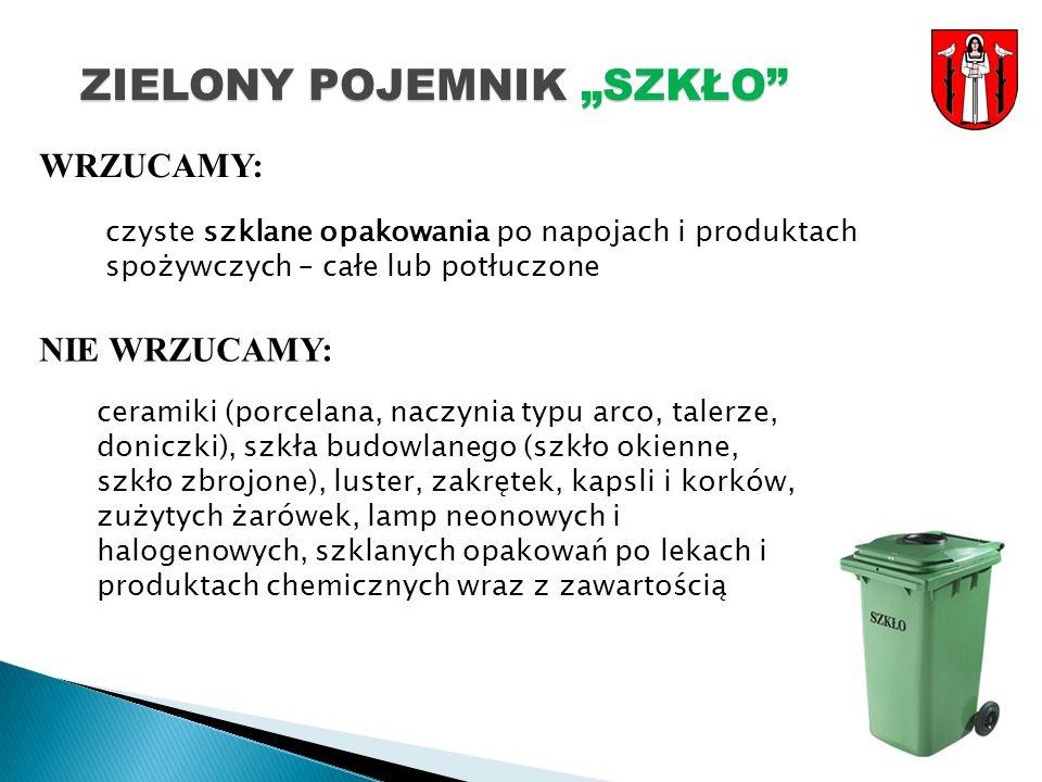 """ZIELONY POJEMNIK """"SZKŁO"""