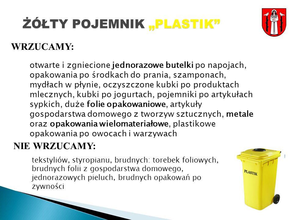 """ŻÓŁTY POJEMNIK """"PLASTIK"""