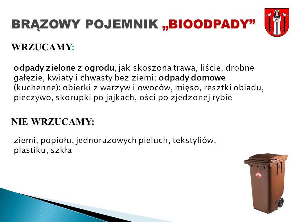 """BRĄZOWY POJEMNIK """"BIOODPADY"""