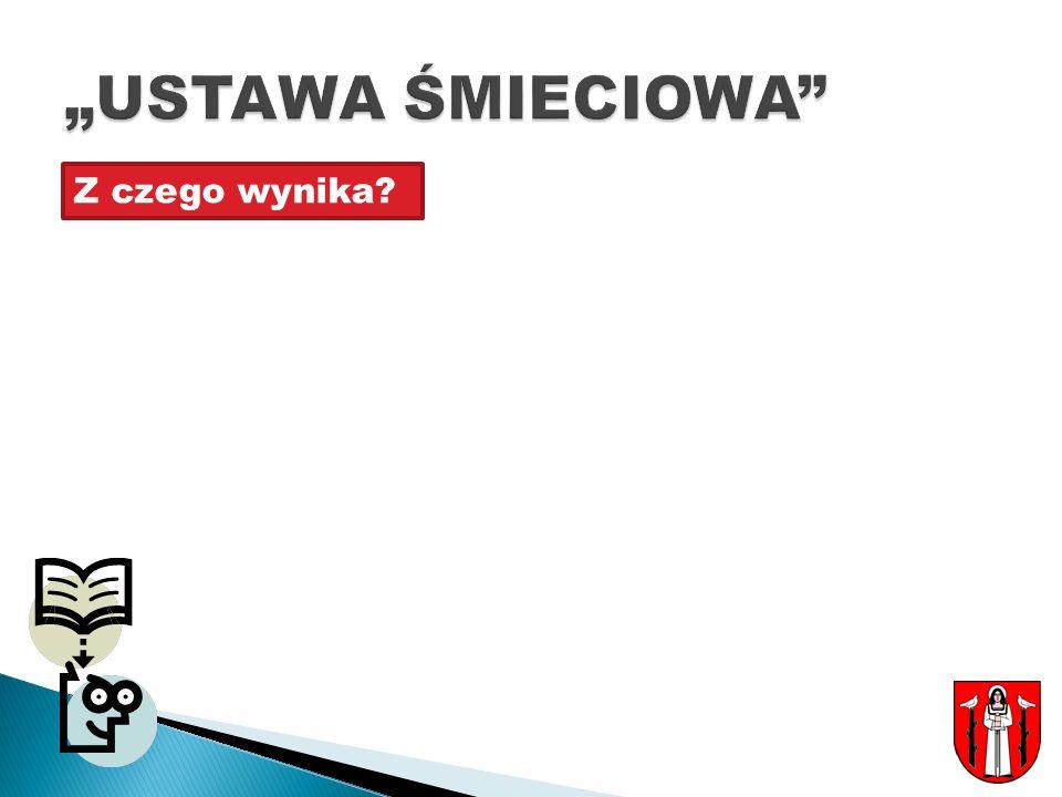 """""""USTAWA ŚMIECIOWA Z czego wynika"""