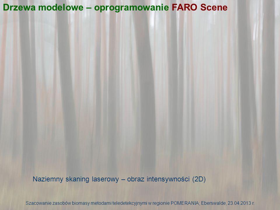 Drzewa modelowe – oprogramowanie FARO Scene