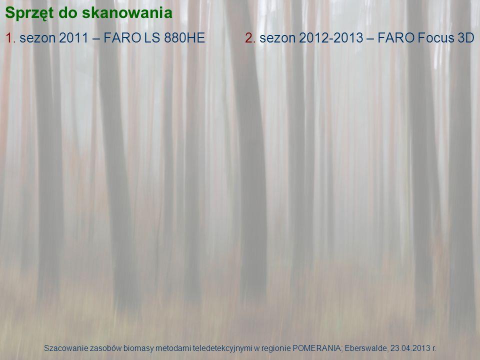 Sprzęt do skanowania 1. sezon 2011 – FARO LS 880HE