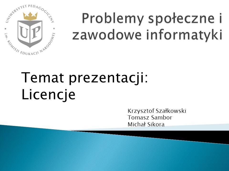 Problemy społeczne i zawodowe informatyki