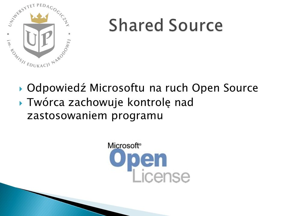 Shared Source Odpowiedź Microsoftu na ruch Open Source
