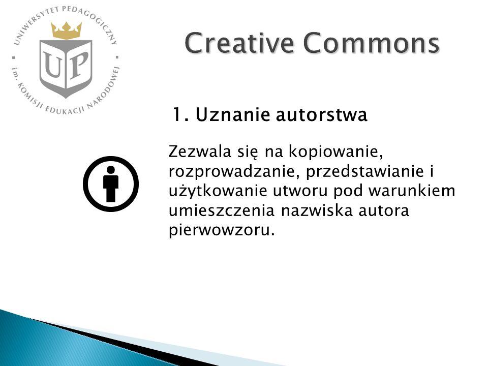Creative Commons 1. Uznanie autorstwa