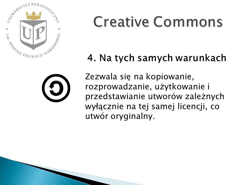 Creative Commons 4. Na tych samych warunkach