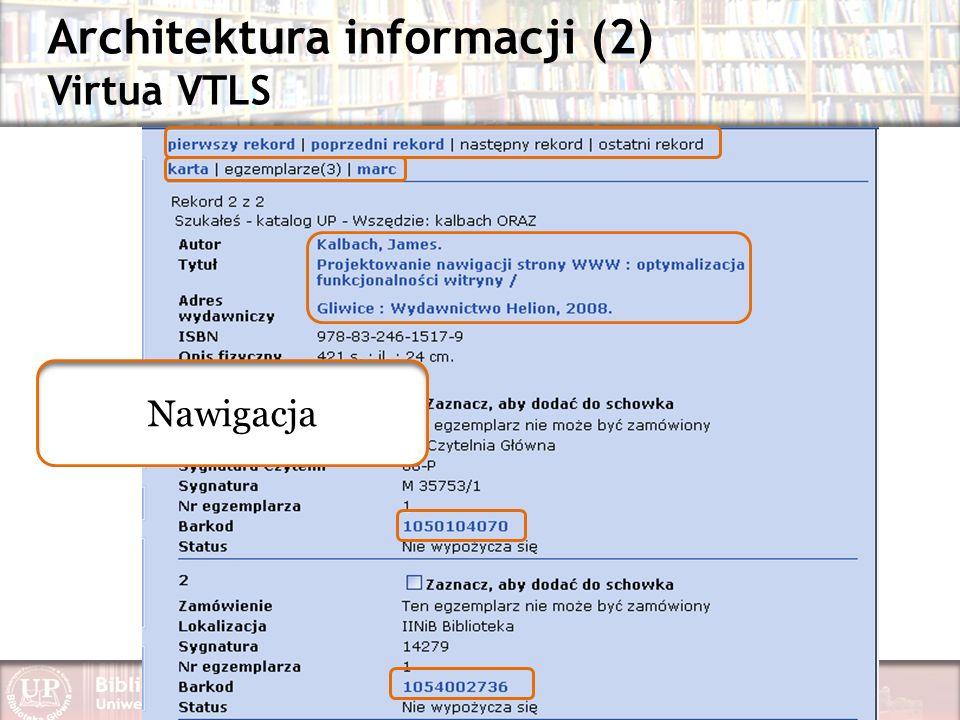 Architektura informacji (2) Virtua VTLS