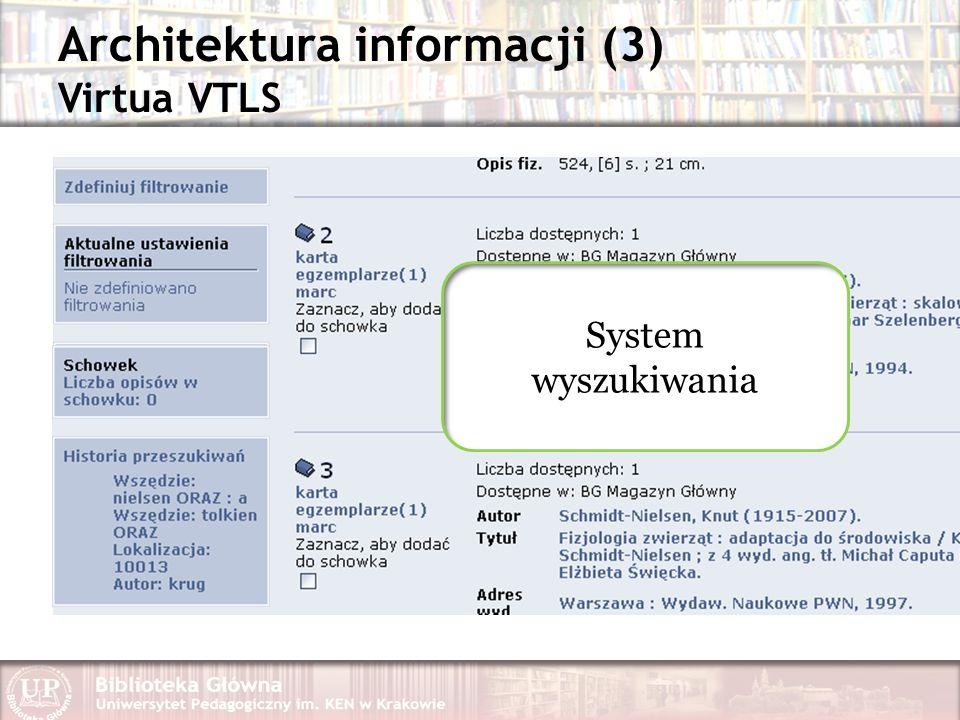 Architektura informacji (3) Virtua VTLS