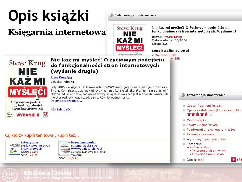 Opis książki Księgarnia internetowa