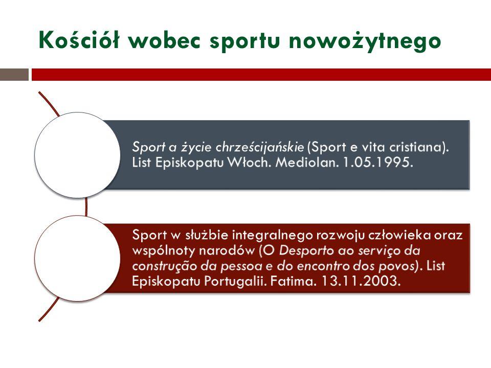 Kościół wobec sportu nowożytnego