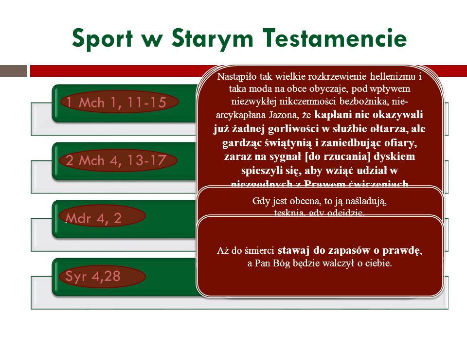 Sport w Starym Testamencie