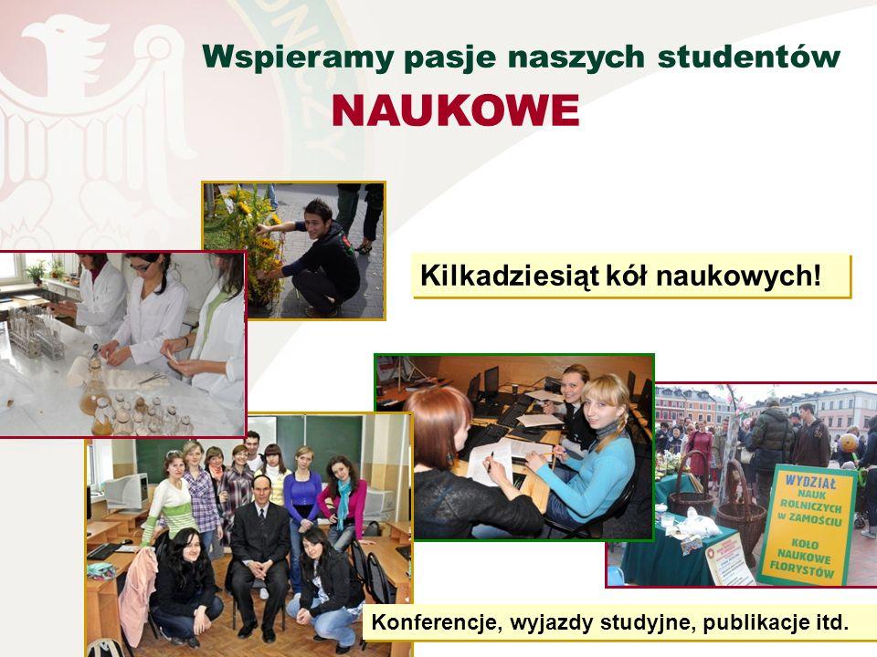 NAUKOWE Wspieramy pasje naszych studentów Kilkadziesiąt kół naukowych!