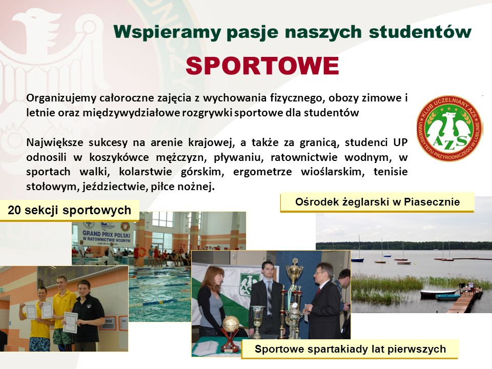 Ośrodek żeglarski w Piasecznie Sportowe spartakiady lat pierwszych