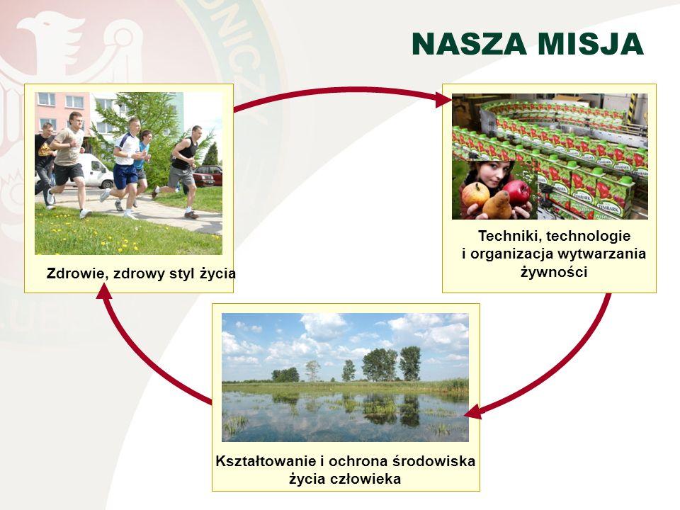 NASZA MISJA Techniki, technologie i organizacja wytwarzania żywności