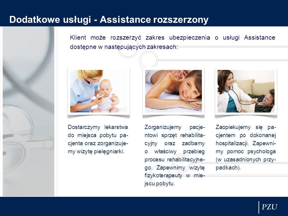 Dodatkowe usługi - Assistance rozszerzony