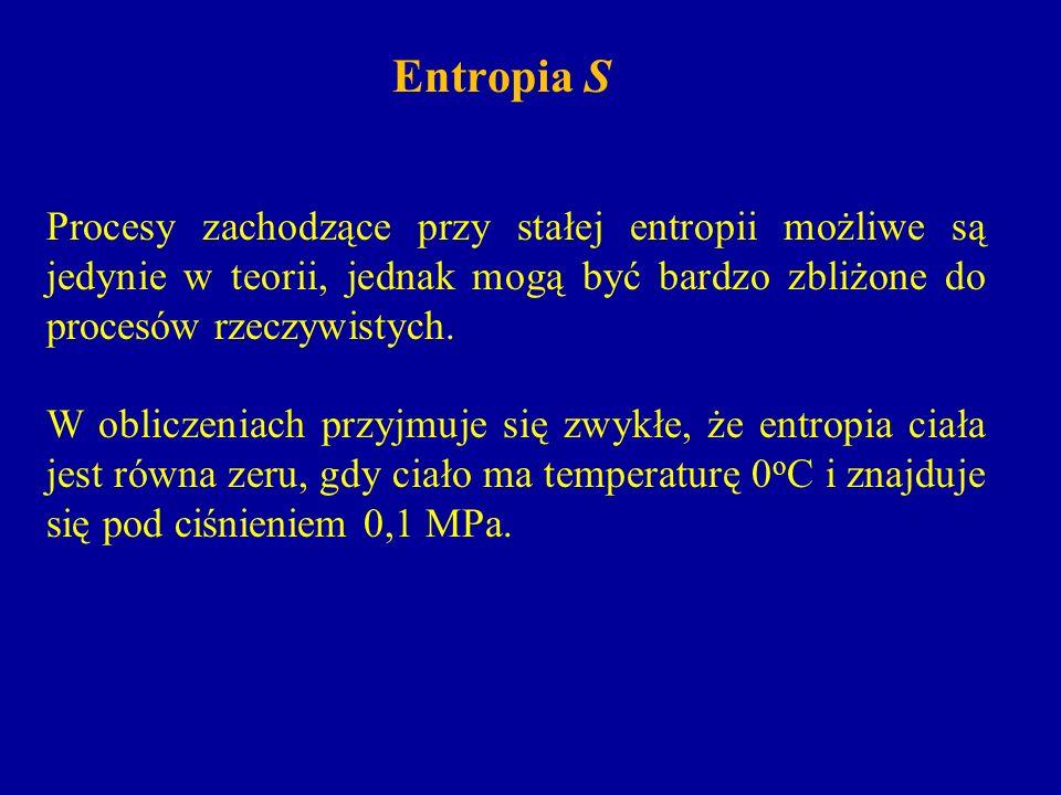Entropia SProcesy zachodzące przy stałej entropii możliwe są jedynie w teorii, jednak mogą być bardzo zbliżone do procesów rzeczywistych.