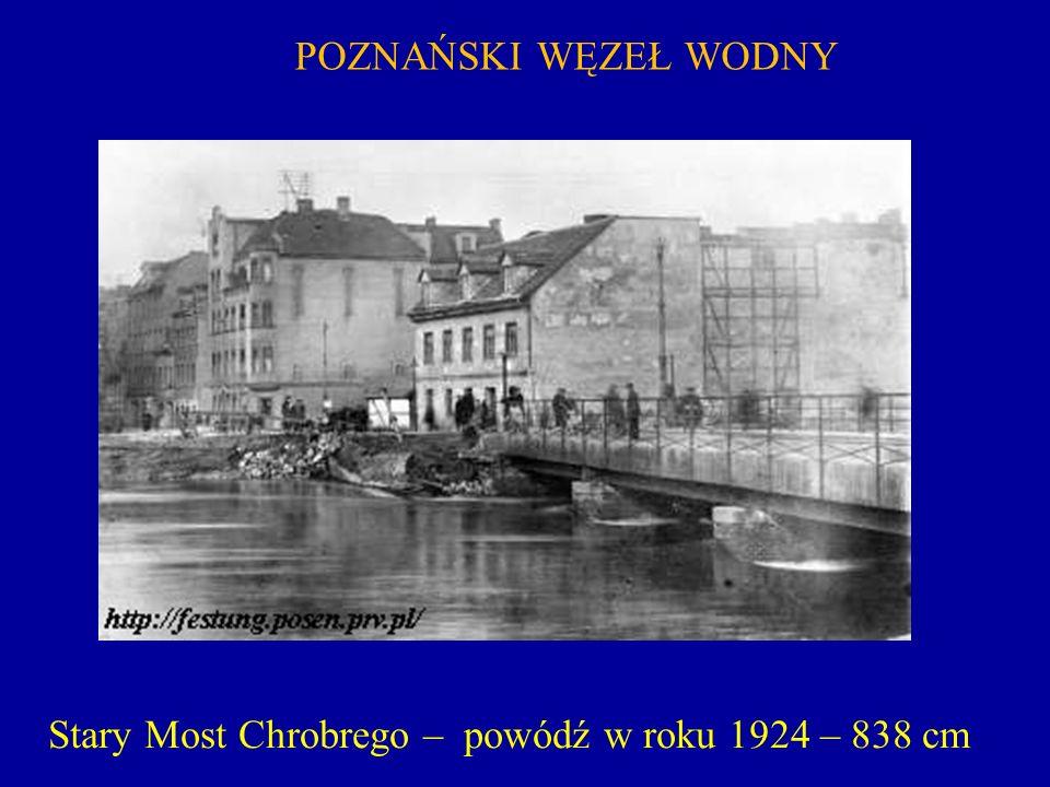 Stary Most Chrobrego – powódź w roku 1924 – 838 cm