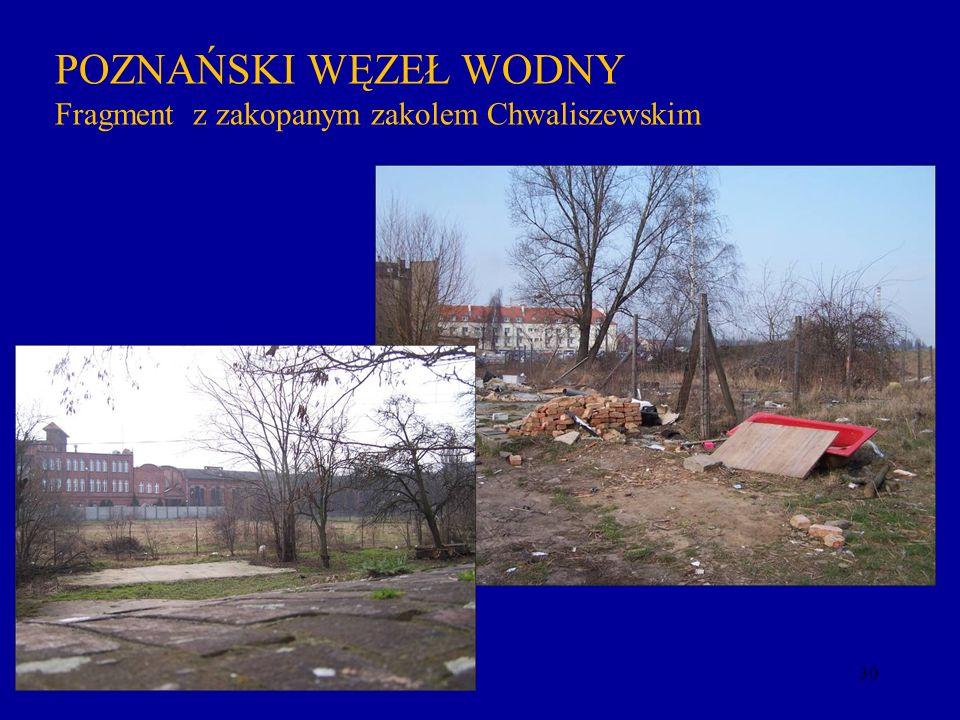 POZNAŃSKI WĘZEŁ WODNY Fragment z zakopanym zakolem Chwaliszewskim