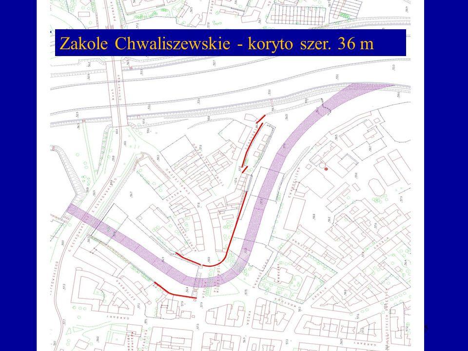 Zakole Chwaliszewskie - koryto szer. 36 m