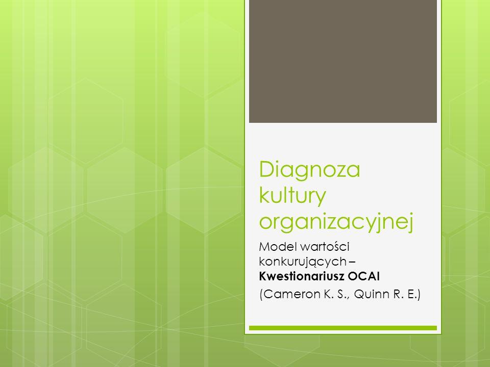 Diagnoza kultury organizacyjnej