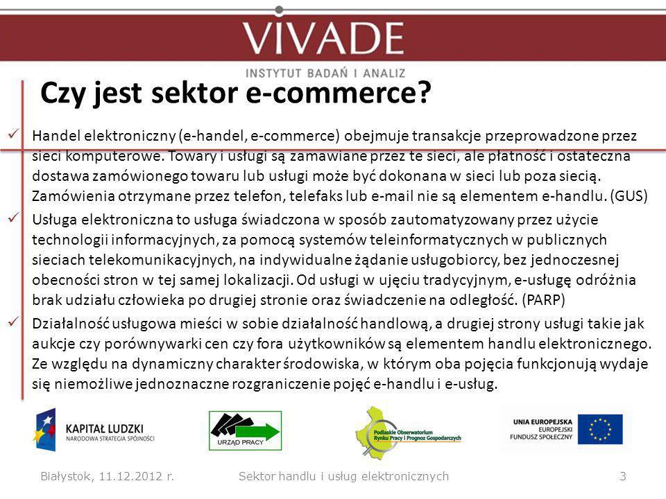 Czy jest sektor e-commerce