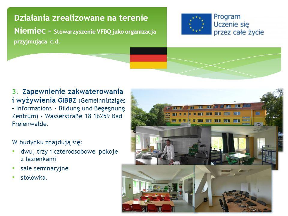 Działania zrealizowane na terenie Niemiec – Stowarzyszenie VFBQ jako organizacja przyjmująca c.d.