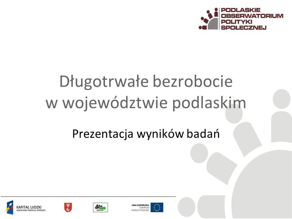 Długotrwałe bezrobocie w województwie podlaskim