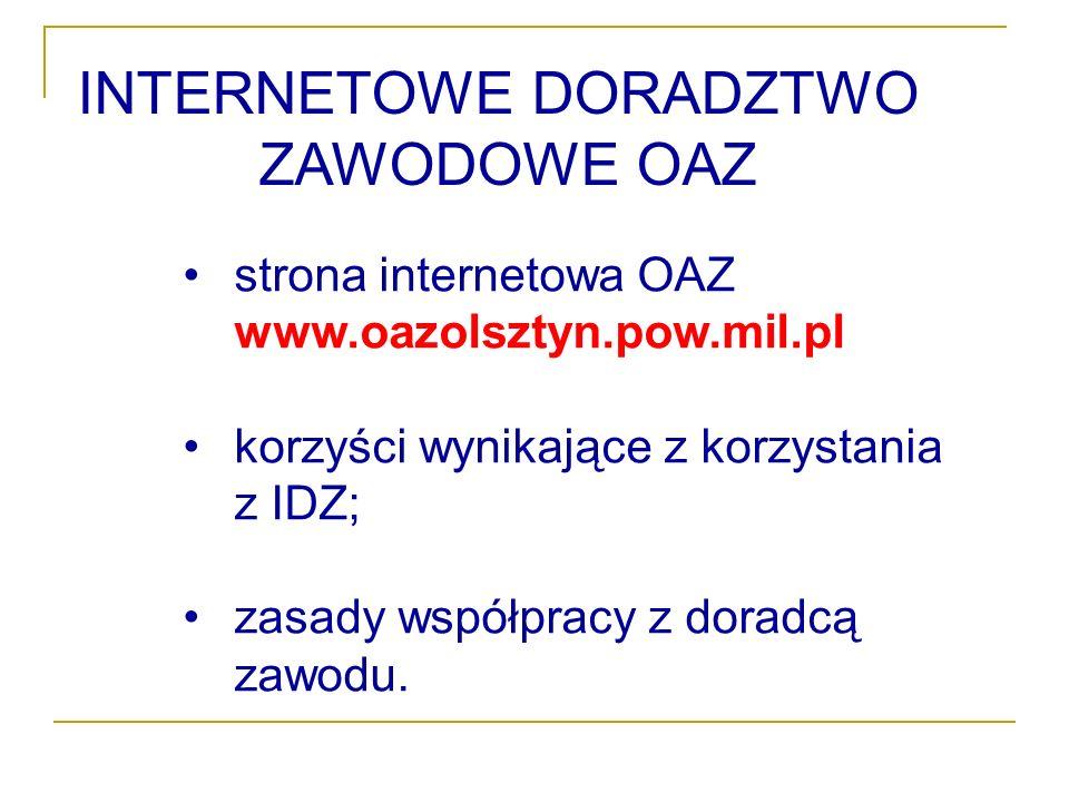 INTERNETOWE DORADZTWO ZAWODOWE OAZ