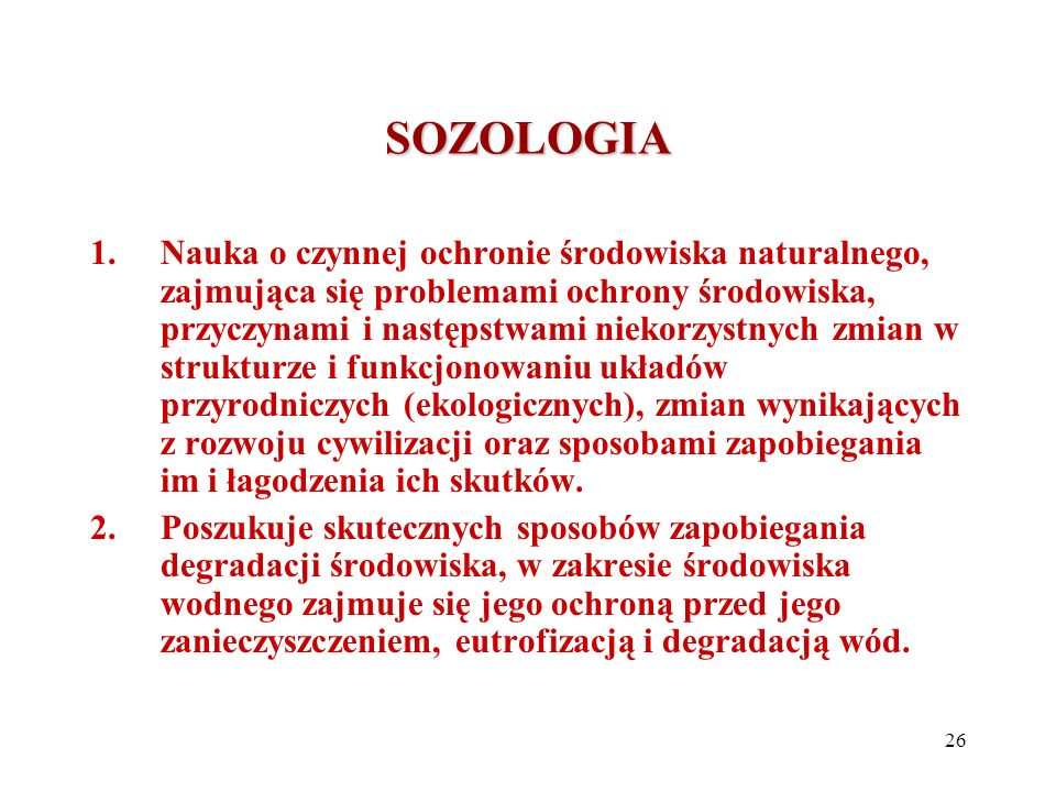 SOZOLOGIA