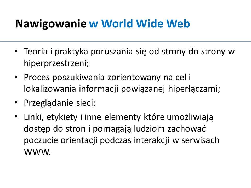 Nawigowanie w World Wide Web