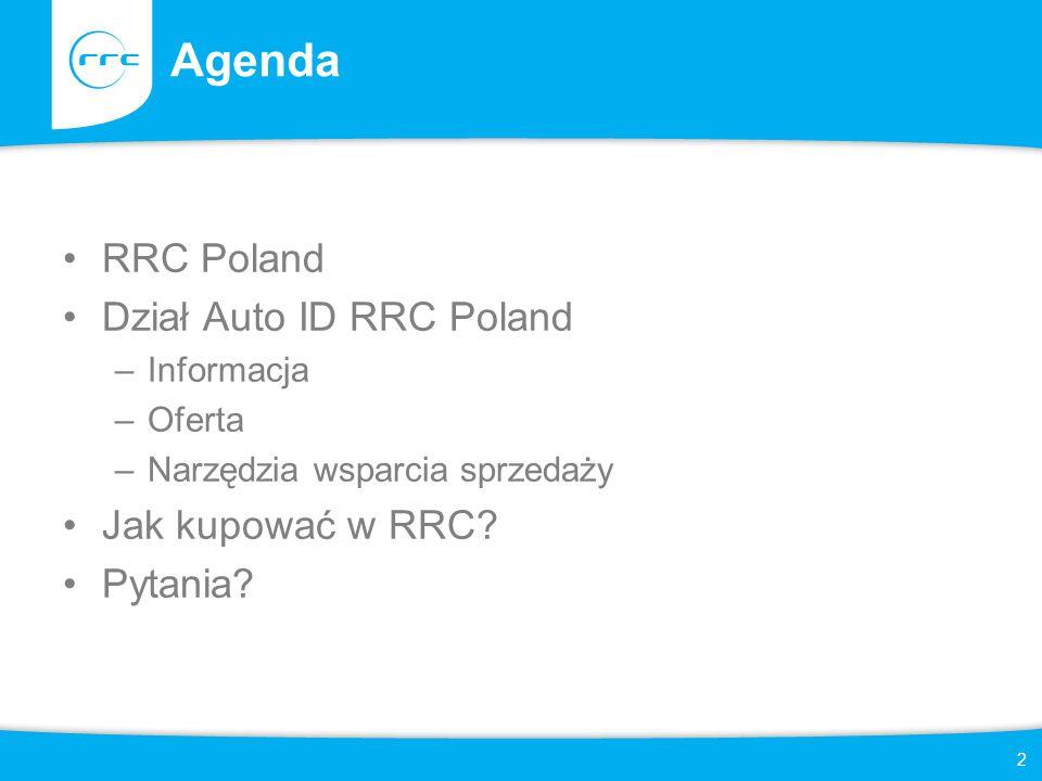 Agenda RRC Poland Dział Auto ID RRC Poland Jak kupować w RRC Pytania