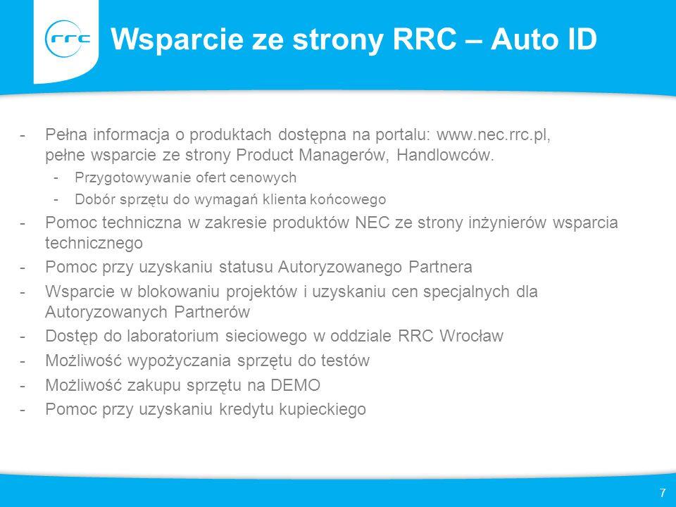 Wsparcie ze strony RRC – Auto ID
