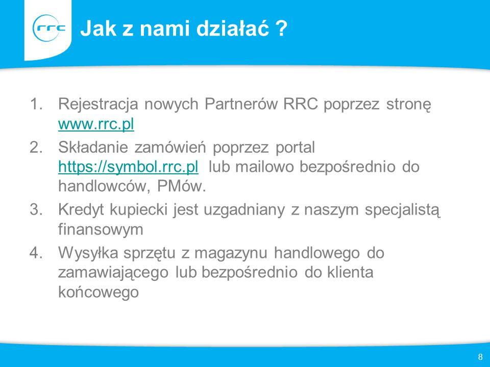 Jak z nami działać Rejestracja nowych Partnerów RRC poprzez stronę www.rrc.pl.