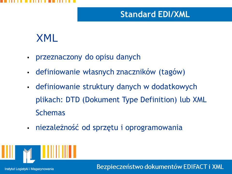 XML Standard EDI/XML przeznaczony do opisu danych