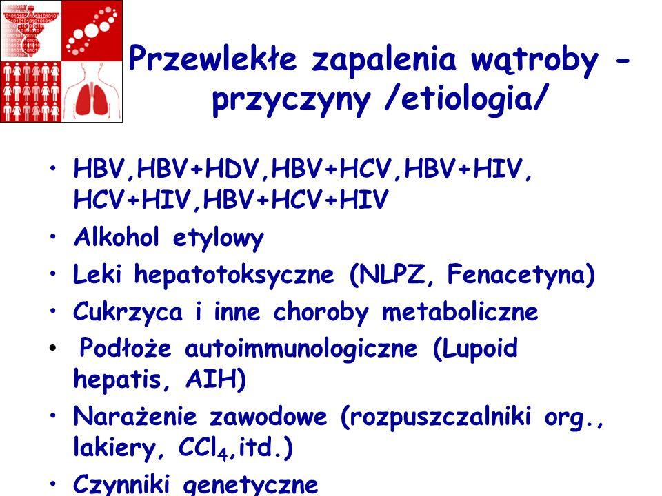 Przewlekłe zapalenia wątroby -przyczyny /etiologia/