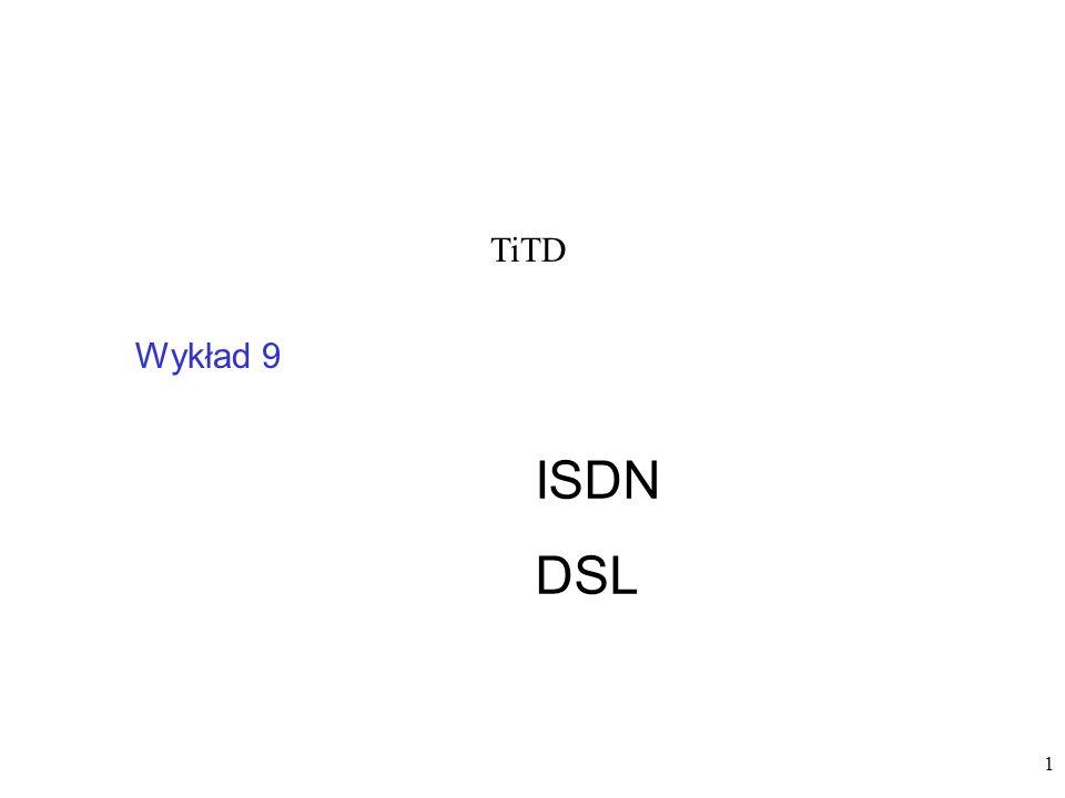 TiTD Wykład 9 ISDN DSL