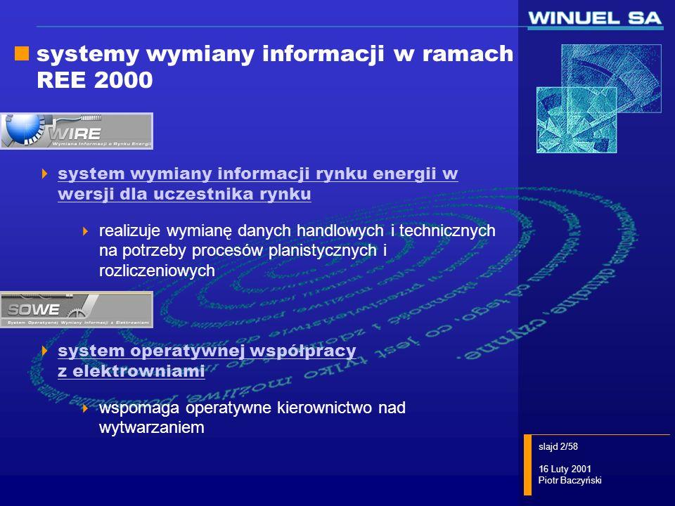 systemy wymiany informacji w ramach REE 2000