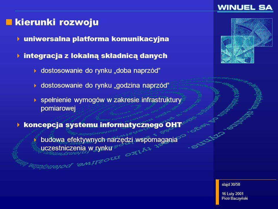 kierunki rozwoju uniwersalna platforma komunikacyjna