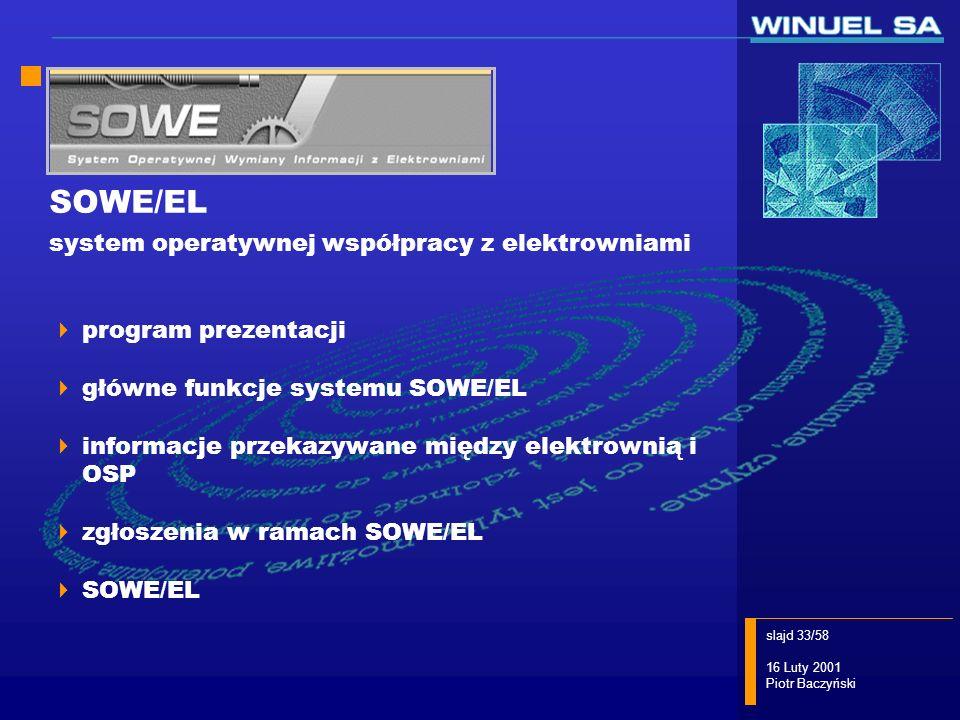 SOWE/EL system operatywnej współpracy z elektrowniami