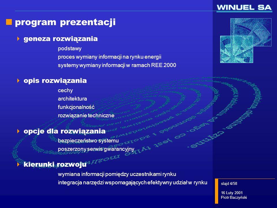 program prezentacji geneza rozwiązania opis rozwiązania