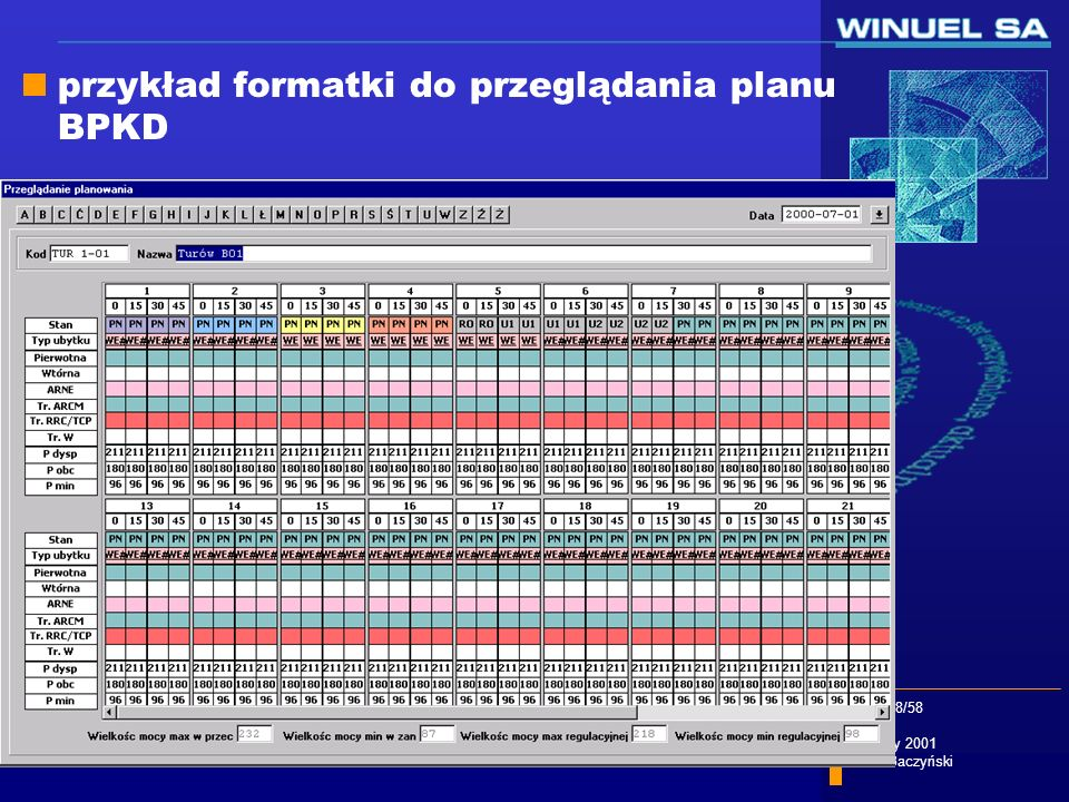 przykład formatki do przeglądania planu BPKD