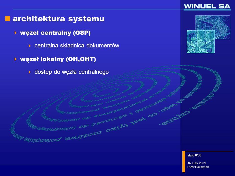 architektura systemu węzeł centralny (OSP)