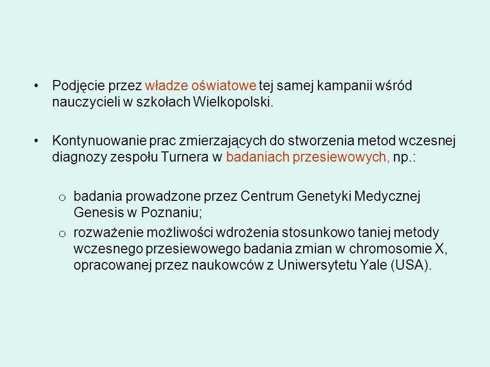 Podjęcie przez władze oświatowe tej samej kampanii wśród nauczycieli w szkołach Wielkopolski.