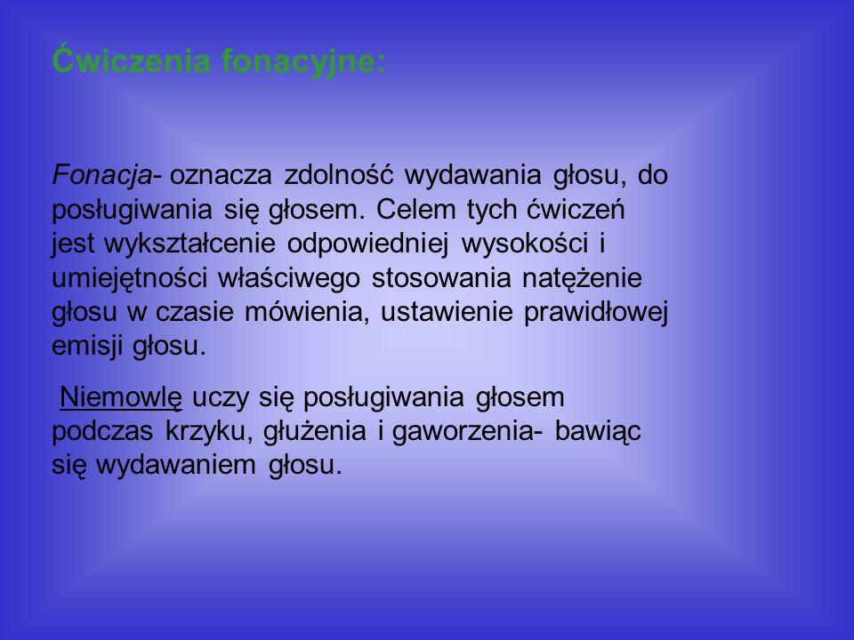 Ćwiczenia fonacyjne: